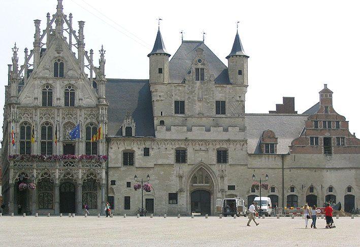 Town Hall with Belfry, Mechelen, Flanders Region, Belgium