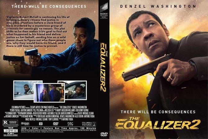 The Equalizer 2 2018 Dvd Custom Cover Peliculas Dvd Justiciero