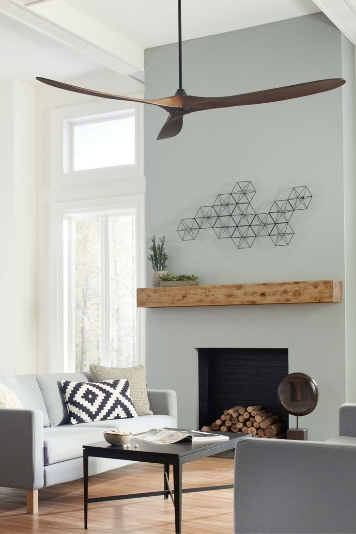 Fan From Monte Carlo Features Softly Rounded Beautiful Hand Carved Balsa Blades And Elegantly Simple Housing Ideal For Extra Large Living Rooms