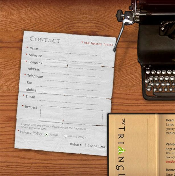 Beautiful Contact Forms for your Inspiration photo