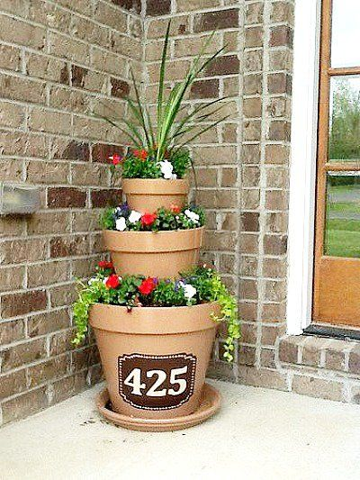 10 Amazing Flower Tower Tipsy Pot Planter Ideas Flower