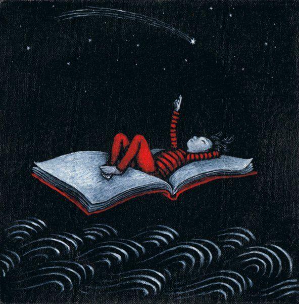 Day we read, we read at night / Leemos de día, leemos de noche (ilustración de Lucy Campbell)