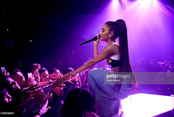 Ariana Grande performs on stage during the 'Dangerous Woman' Tour Opener at Talking Stick Resort Arena on February 3, 2017 in Phoenix, Arizona.