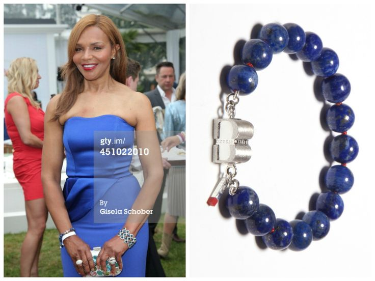 Valerie Campbell is wearing a PURE Lapis Lazuli bracelet from BISAZO (http://www.cliccessory.com/en/collections/bisazo/pure/pure-lapislazuli.html).