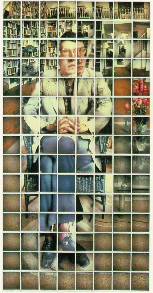 Hockney, David / David Graves Pembroke Studios London Tuesday 27th April 1982  1982 / Composite Polaroid  51 3/4 x 26 1/4 in (131.4 x 66.7 cm)