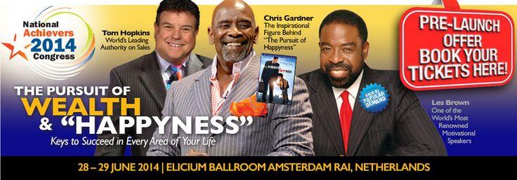 National Achievers Congress  28 en 29 Juni in Nederland! samen met Les Brown e.a. wereld sprekers! RAI Amsterdam  Met mijn promotiecode krijg je tot 15 juni fikse korting!  Promotiecode is: NAC14 (€ 32,- ipv € 97,-)