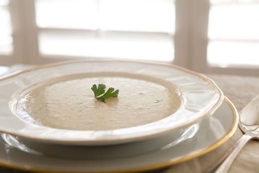 Oyster Stew ~ A creamy holiday oyster stew with oysters, milk, butter, onions, celery, parsley, and a dash of Tabasco. ~ SimplyRecipes.com