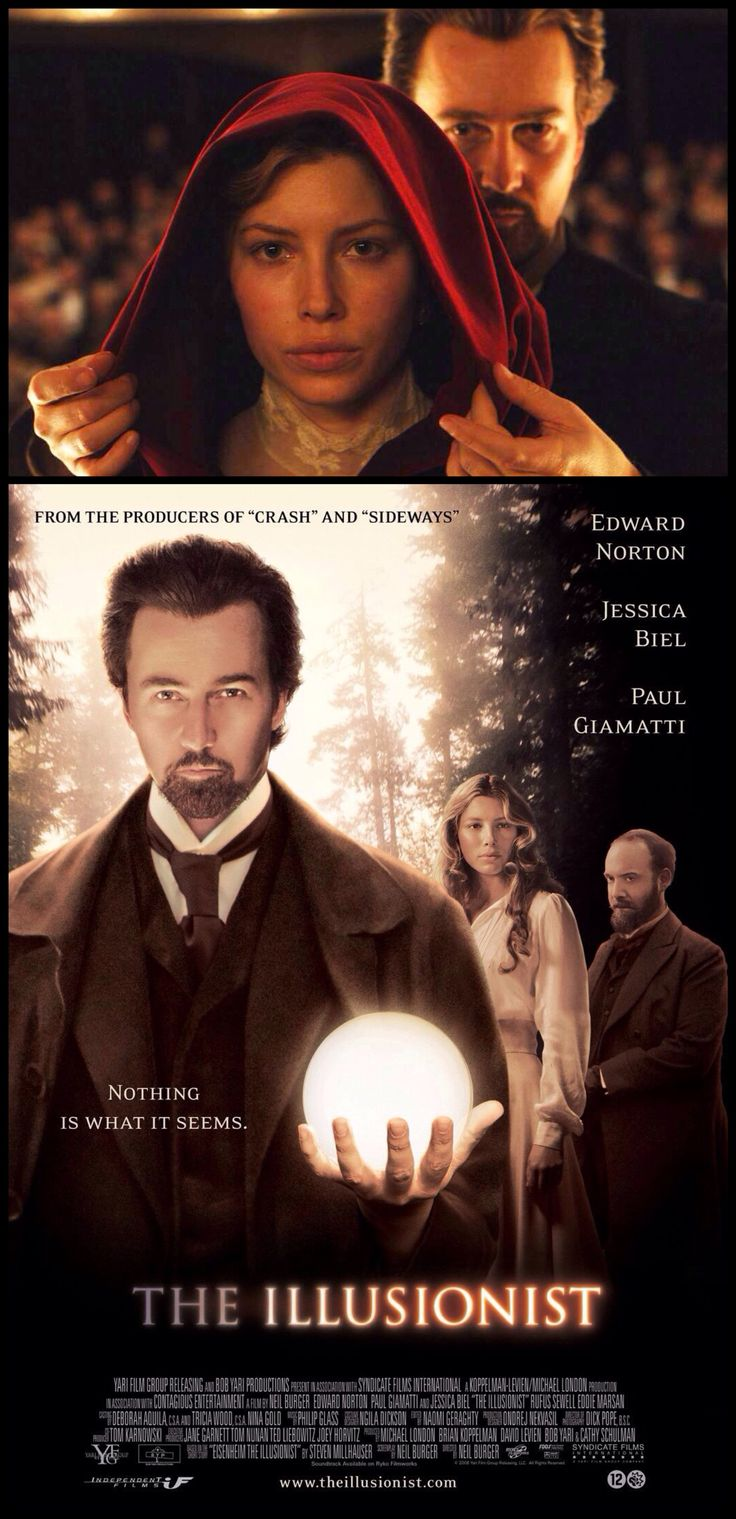 The Illusionist (2006). Fabulous movie....brilliant acting