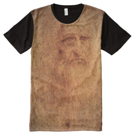 Renaissance Art Self Portrait by Leonardo da Vinci All-Over-Print Shirt - tap to personalize and get yours