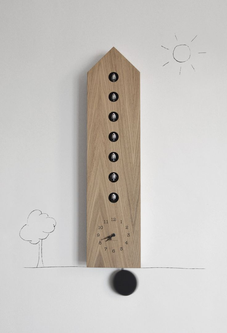 'condominio' cuckoo clock from diamantini & domeniconi - with 7 tenants who is going to chirp?