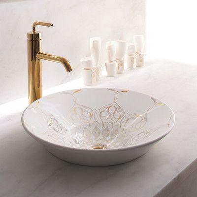 Kohler Caravan Ceramic Circular Vessel Bathroom Sink