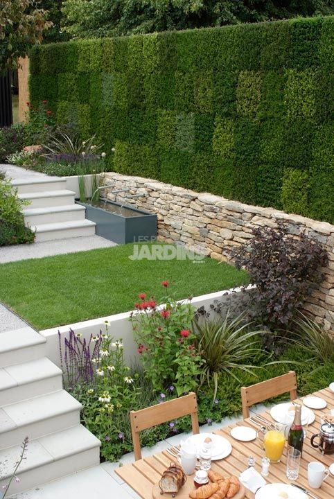1000 images about hagemur on pinterest andy goldsworthy - Amenagement petit jardin avec terrasse ...