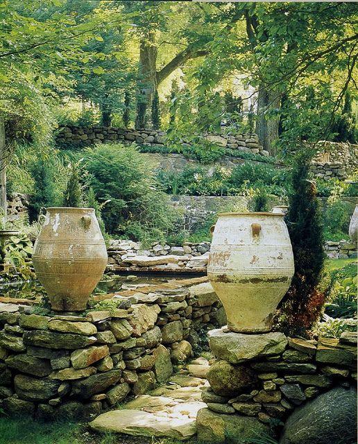 Pretty Stone Garden Walls: 24 Best Outdoor Garden Fountains Images On Pinterest