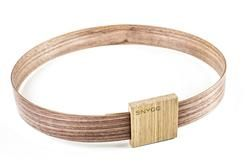 Hip Bälte, it is walnut belt and oak buckle