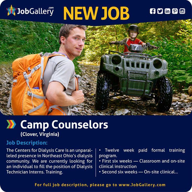 SEEKING CAMP COUNSELORS CLOVER VA jobs