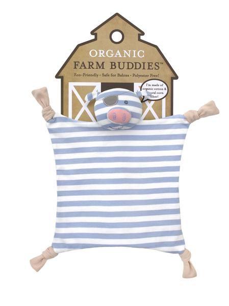 Organic Farm Buddies - security blanket 100% Organic Pirate Pig - PetitePeople, baby blanket