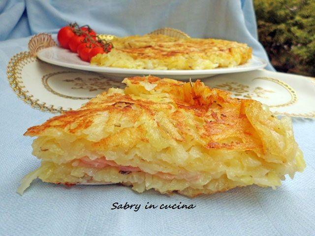 Rosti+di+patate+farcito+-+Ricetta+economica
