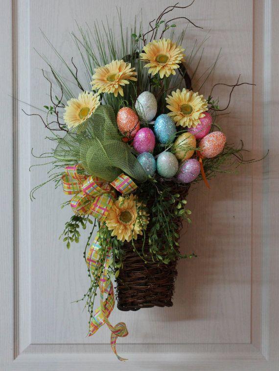 Easter basket door hanging