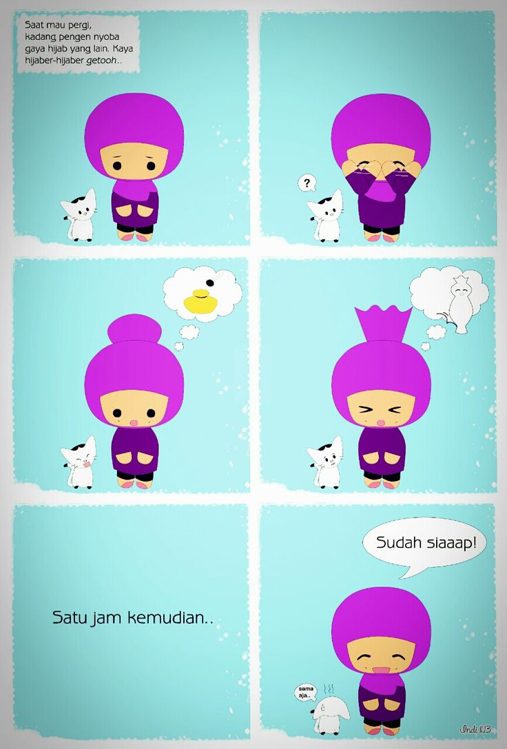 """Iseng-iseng. 1st episode of my #comicstrip. """"Hijaber"""" – View on Path."""