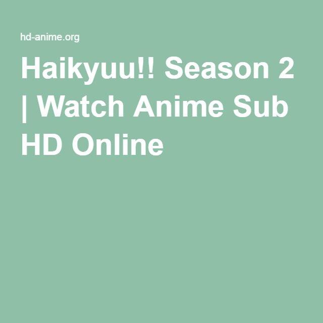 Haikyuu!! Season 2   Watch Anime Sub HD Online