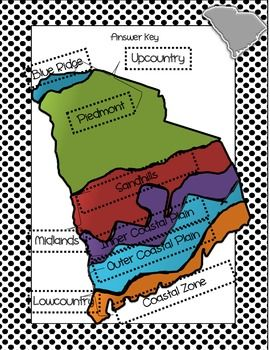 This is a cut and paste activity for South Carolina's six regions. Included in the lesson are procedures for completing the activity as well as additional activities that complement the lesson.  Additional material required:  construction paper (or computer paper to glue regions on) scissors glue  *This can be used as an engaging introduction to the regions, a PASS review, or even an assessment.
