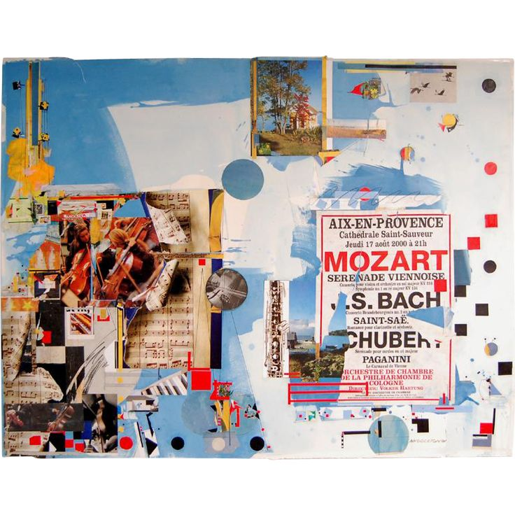 Sam Middleton. Mixed Media Collage, Untitled, 2001. Offerd by Oljos on RubyLUX.