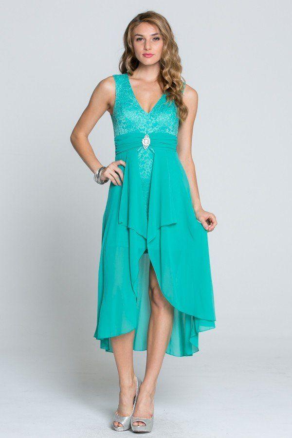Mint Dress - Lace Dress - Mint Gown - Mint Chiffon Dress | www.ledyzfashions.com