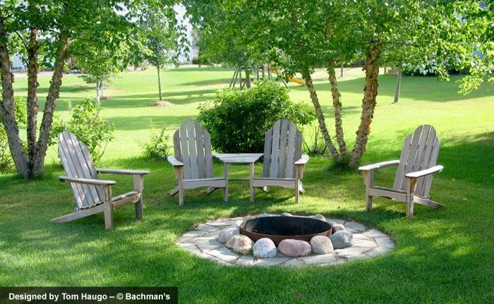 Small backyard fire pit with metal fire ring.  Wes prefers this one- probably cheaper too which is fine...