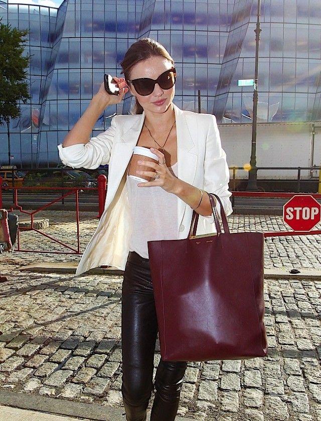 Celine Cabas tote in burgundy | Bags | Pinterest | Miranda Kerr ...