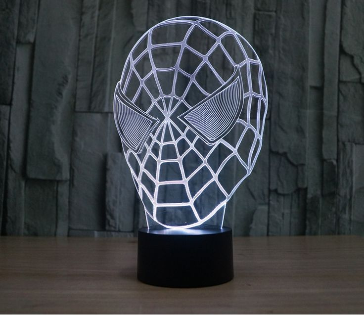 Fresh The Avengers Iron Man Deadpool Led tabel lamp flash toy New SuperHero TMNT Batman color visual illusion LED lights