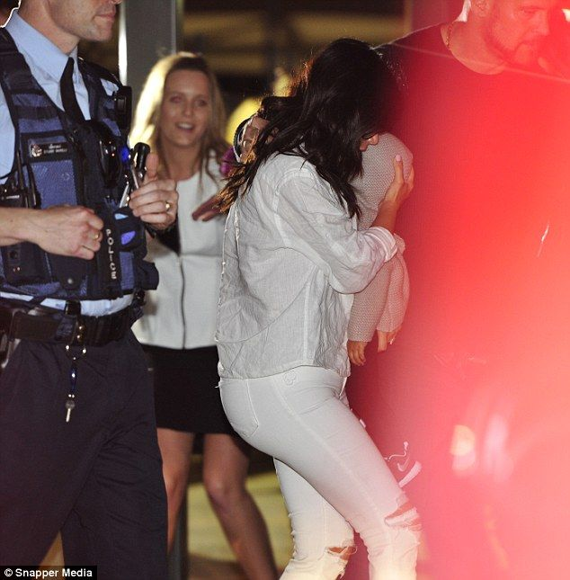 Kim Kardashian touches down in Perth with baby North West   Mail Online