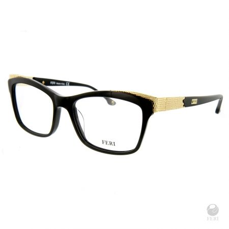 FERI - Seattle Black - Optical - Black acetate optical glasses - Made with metal and acetate - FERI logo on both outer arms - Rectangular frame shape - Comes with non-prescription plano Lens - Incredibly unique styling will turn heads  Invest with confidence in FERI Designer Lines.  www.gwtcorp.com/ghem or email fashionforghem.com for big discount