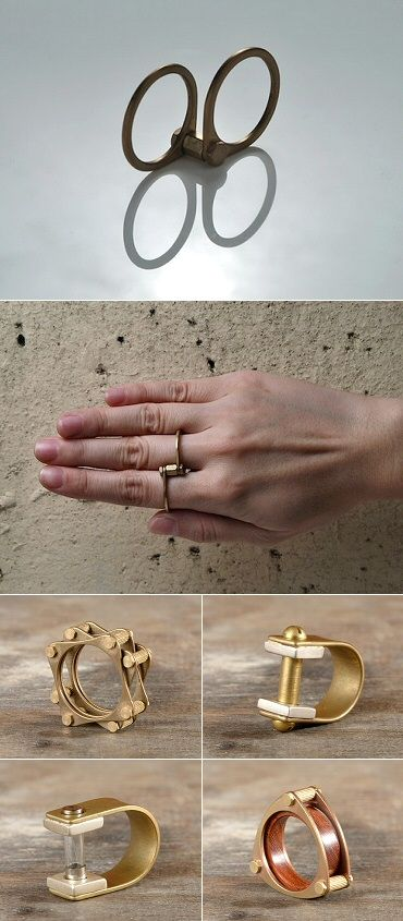 Visit Hong Kong's Playback Concept (Chan Po Fung) for industrial jewellery, as well as myriad interesting art pieces. (Each photo on the site links to its own section, so click away!) March 2015 | The Carrotbox modern jewellery blog and shop — obsessed with rings