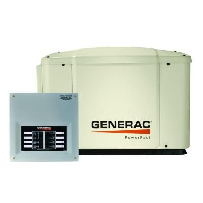 Generac 7,000-Watt Air Cooled Automatic Standby Generator with 50-Amp 8-Circuit Transfer Switch (No Whips)-6519 - The Home Depot