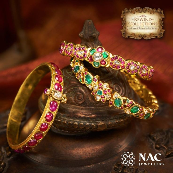 Temple Jewellery Bangles from NAC Jewellers Vintage Collection www.addiga.com