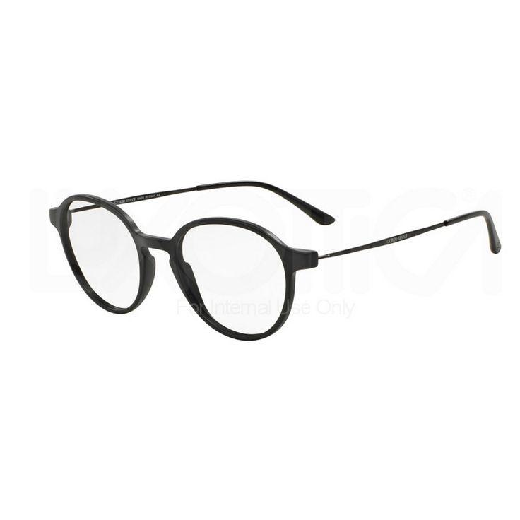 Giorgio Armani 7071 5042. Occhiale da vista Giorgio Armani ideale sia per l'uomo che per la donna. Montatura estremamente di tendenza. Ultra leggera con frontale in celluloide di colore nero e forma phantos.