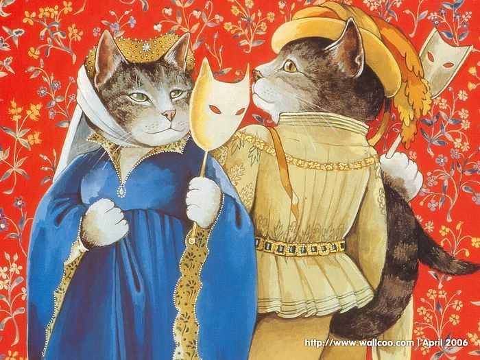 Shakespeare Cats : Cat Paintings by Susan Herbert  Saved by monkeetree.com