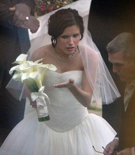Sophia Bush Wedding Hair
