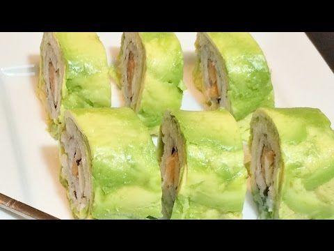 como hacer sushi ENVUELTO EN PALTA (muy fácil)