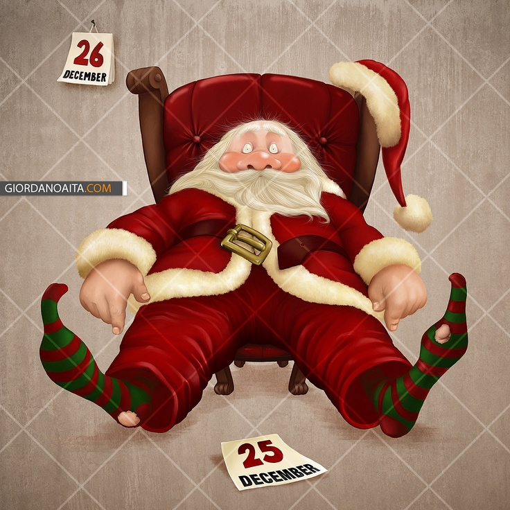 Tired Santa Claus - © Giordano Aita - All right reserved     http://it.fotolia.com/p/120313/partner/120313