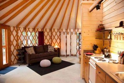 yurt living space yurts yourte contemporaine yourte eco rh pinterest fr