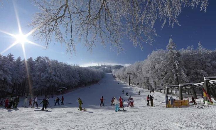 Ski-ing at Monte Amiata
