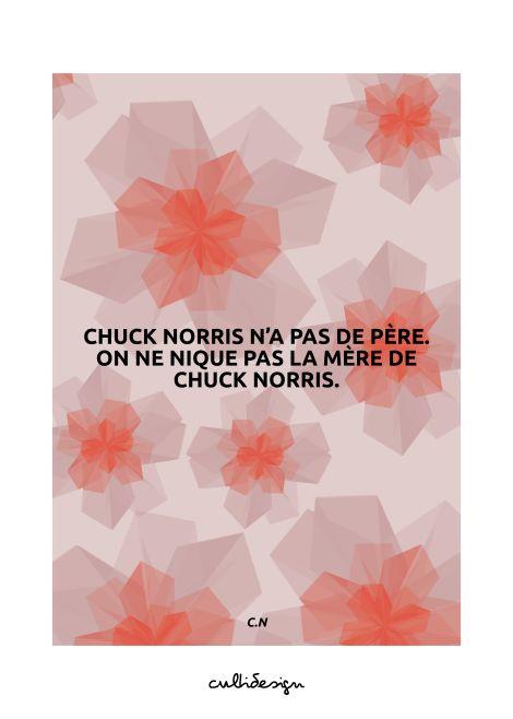 Chuck norris n'a pas de père. On ne nique pas la mère de chuck norris. // C.N
