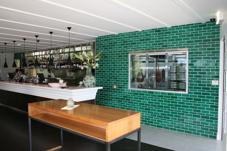 Another green option for tile splashback - Hacienda turqoise green from Middle Earth Tiles
