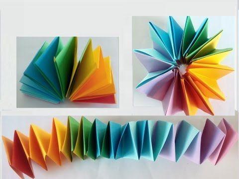 Bewegliches Spielzeug Aus Papier Falten Youtube Basteln Mit Papier Falten Girlanden Basteln Basteln