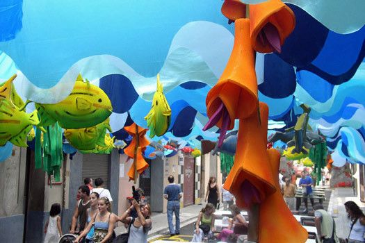 Festes de Gracia, Barcelono Spain, 2005. Photo by Robert Cudmore