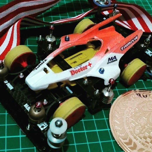Latepost. 3rd place on 5th series of Crooz Cup Mini 4wd National Championship, Jakarta Region.  #mini4wd #ミニ四駆