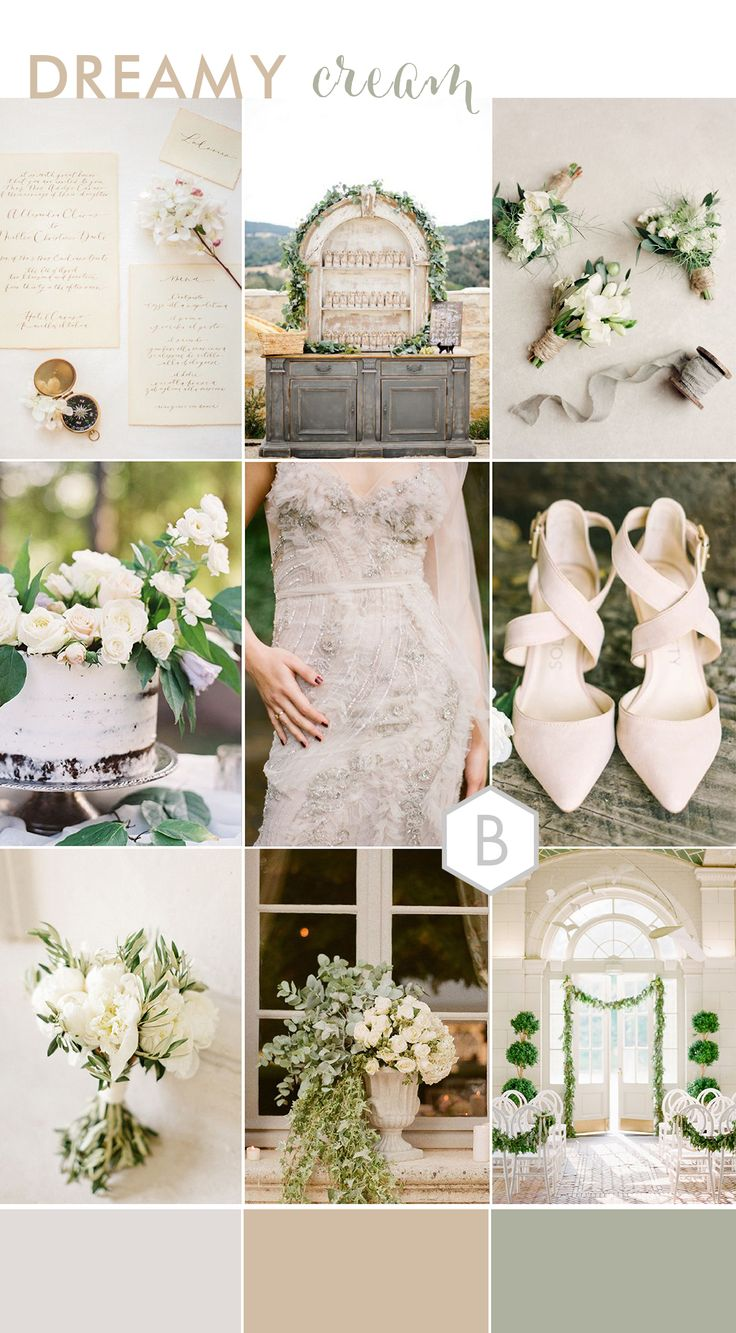 Elegant sophisticated and dreamy cream colour palette and wedding inspirations! Created by Catharine Noble for the stylish B.Loved blog!