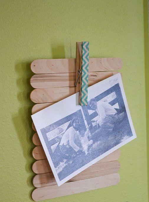 Artesanato com Palito de Picolé: 80 Fotos e Passo a Passo