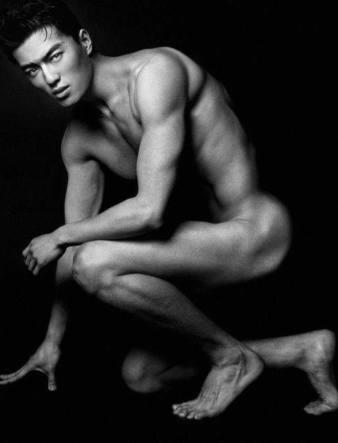 korean guy nude body